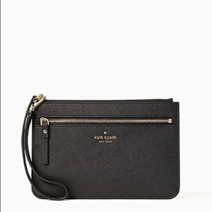 NWOT Kate Spade Black Wristlet w/ Zip Pocket